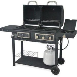 The Royal Gourmet ZH3003 Dual 3-Burner Gas and Charcoal Grill Combo