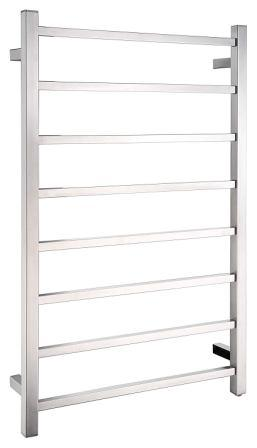 ANZI Bell modern 8-bar wall mounted towel warmer in brushed nickel stainless steel electric heater