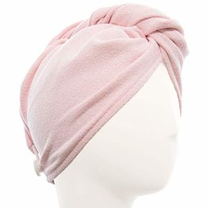 AQUIS - Original Hair Turban, Patented Perfect Hands-Free Microfiber Hair Drying, Soft Pink