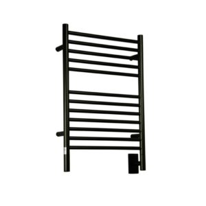 Amba Jeeves wall mount electric C straight towel warmer.