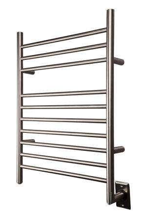 HEATGENE hot towel warmer for bath Radiant hardwired heated drying rack brushed polish