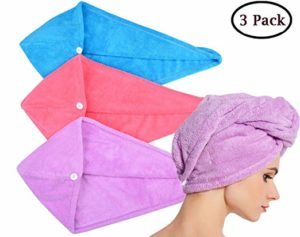 HOPESHINE Microfiber Hair Drying Towel Turban Twist for Long Hair Wrap Towels Fast Drying Absorbent Cap Great Gift for Women and Girls