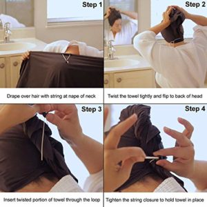 How to use microfiber hair towel