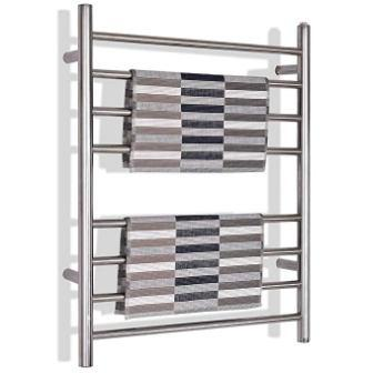 Tangkula towel warmer 100W 8-bar drying rack home bathroom hotel wall mounted style cloth bath towel heater