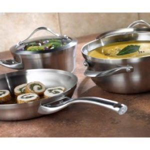 Calphalon Contemporary Stainless 13-Piece Cookware Set
