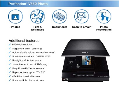 Epson V550 Features