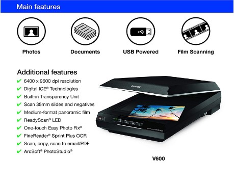 Epson V600 Features