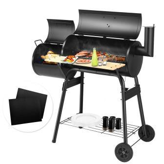 Giantex BBQ Grill with Offset Smoker Barbecue Oven