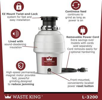 Waste King 3200 Comarison