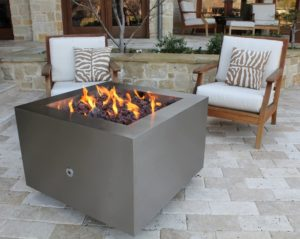 """Bentintoshape 35"""" Stainless Steel Fire Pit"""