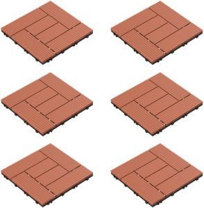 Pure Garden 50-LG1190 Patio and Deck Tiles