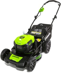GreenWorks G-MAX 40V 20'' Brushless Dual Port Lawn Mower, Battery and Charger