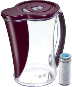 Brita Stream Filter as You Pour Water Pitcher, 12 cups, Bordeaux