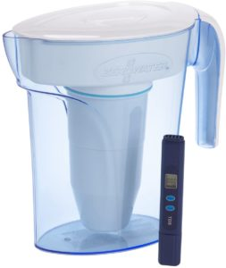 ZeroWater 6 Cup Water Filter Pitcher with Water Quality Meter